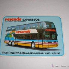 Coleccionismo Calendarios: CALENDARIO PORTUGAL 1987 - RESENDE EXPRESSOS. AUTOBUS. ARCOS VALDEVEZ - BRAGA - PORTO - LISBOA . Lote 41294207