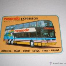 Coleccionismo Calendarios: CALENDARIO PORTUGAL 1987 - RESENDE EXPRESSOS. AUTOBUS. BARCELOS - BRAGA - PORTO - LISBOA - SINES . Lote 41294214