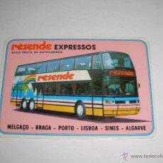 Coleccionismo Calendarios: CALENDARIO PORTUGAL 1987 - RESENDE EXPRESSOS. AUTOBUS. MELGAÇO - BRAGA - PORTO - LISBOA - SINES . Lote 41294224