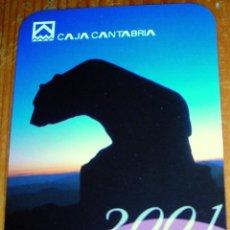 Coleccionismo Calendarios: CALENDARIO CAJA CANTABRIA AÑO 2001. Lote 40786977