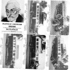 Coleccionismo Calendarios: BILBAO. LOTE 6 CALENDARIOS DIFERENTES BILBAO FILATELIA UNAMUNO 1994. Lote 116186802
