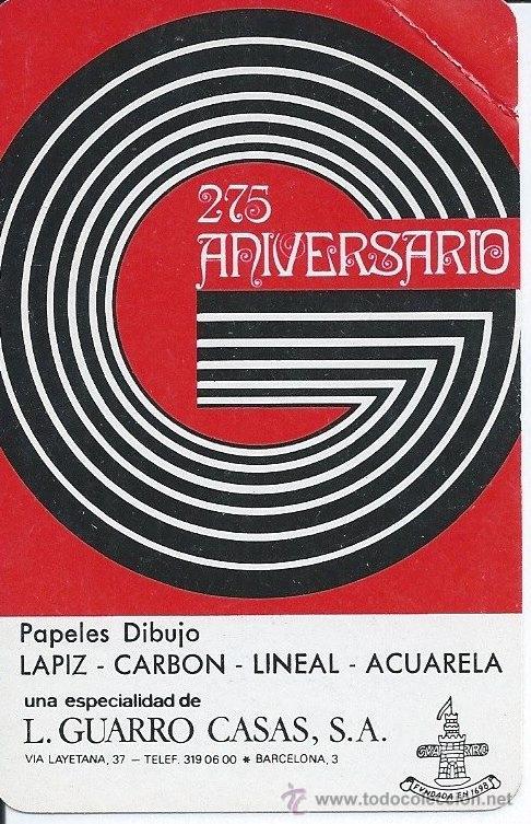 GUARRO CASAS 1973 FOURNIER (Coleccionismo - Calendarios)