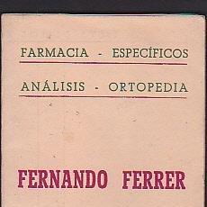 Coleccionismo Calendarios: CALENDARIO 1951 FARMACIA FERNANDO FERRER MANRESA. Lote 41010344