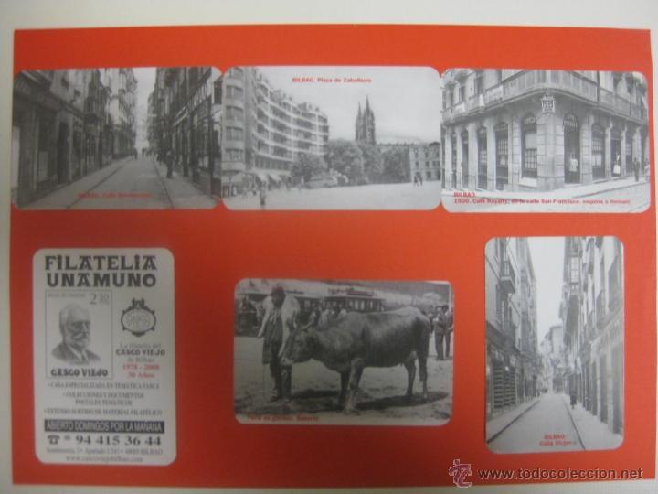 LOTE 6 CALENDARIOS DIFERENTES BILBAO FILATELIA UNAMUNO 2008 (Coleccionismo - Calendarios)