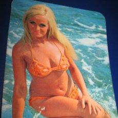 Coleccionismo Calendarios: CALENDARIO BOLSILLO MUJER 1974 BIEN -FOTO REVERSO. Lote 41103949