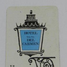 Coleccionismo Calendarios: CALENDARIO FOURNIER. HOTEL NTRA. SRA. DEL CARMEN. MADRID. 1969. - TAL Y COMO SE VE EN LAS FOTOGRAFIA. Lote 41201456