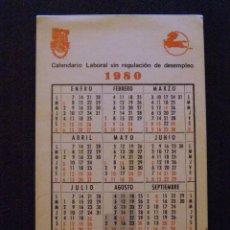 Coleccionismo Calendarios: CALENDARIO - SINDICAL - UGT - PEGASO - ENASA - 1980 -. Lote 41211641