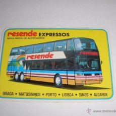 Coleccionismo Calendarios: CALENDARIO PORTUGAL 1987 - RESENDE EXPRESSOS. AUTOBUS. BRAGA - MATOSINHOS - PORTO - LISBOA - SINES . Lote 41294223