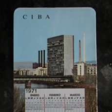Coleccionismo Calendarios: CALENDARIO CIBALGINA 1970-71. Lote 41344289