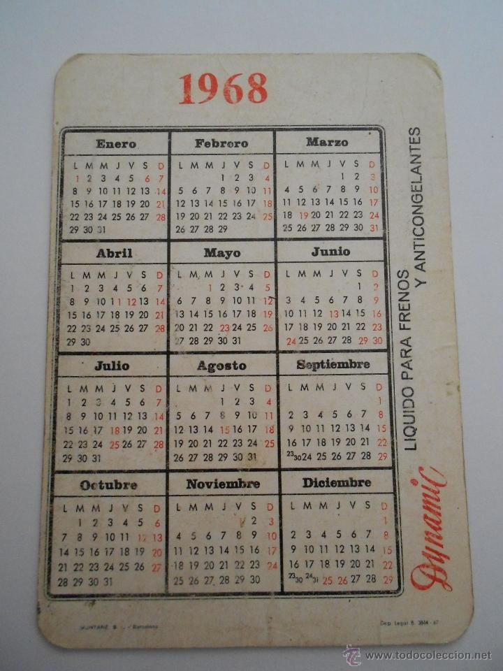 Calendario 1968.Calendario 1968 Envio 0 50