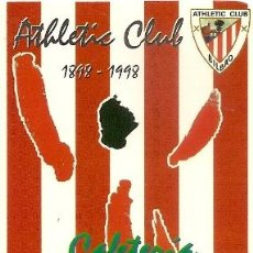 Coleccionismo Calendarios: CALENDARIO ATHLETIC CLUB BILBAO. CAFETERÍA MIREN-VANESSA. 1998. FUTBOL. NUEVO. Lote 41626528