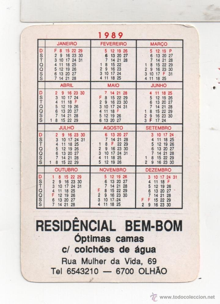 Coleccionismo Calendarios: foto de la parte detras - Foto 2 - 41676477