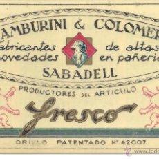 Coleccionismo Calendarios: PS3416 CALENDARIO DE BOLSILLO TAMBURINI & COLOMER - SABADELL - CELULOIDE - 1930. Lote 41690504