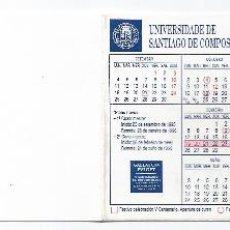 Coleccionismo Calendarios: 6197- CALENDARIO DOBLE 1995/6- UNIVERSIDAD DE SANTIAGO DE COMPOSTELA. Lote 41691476