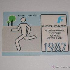 Coleccionismo Calendarios: CALENDARIO PORTUGAL 1987 - FIDELIDADE SEGUROS. Lote 41745604