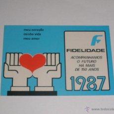 Coleccionismo Calendarios: CALENDARIO PORTUGAL 1987 - FIDELIDADE SEGUROS. Lote 41745621