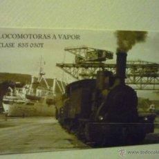 Coleccionismo Calendarios: CALENDARIO FERROCARRIL.-2010 LOCOMOTORA VAPOR. Lote 42148967