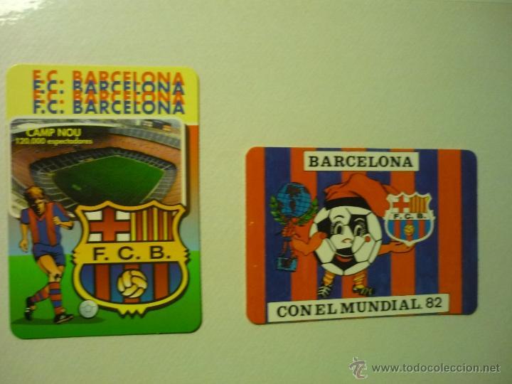 LOTE CALENDARIOS FUTBOL BARCELONA 1982-1998 (Coleccionismo - Calendarios)