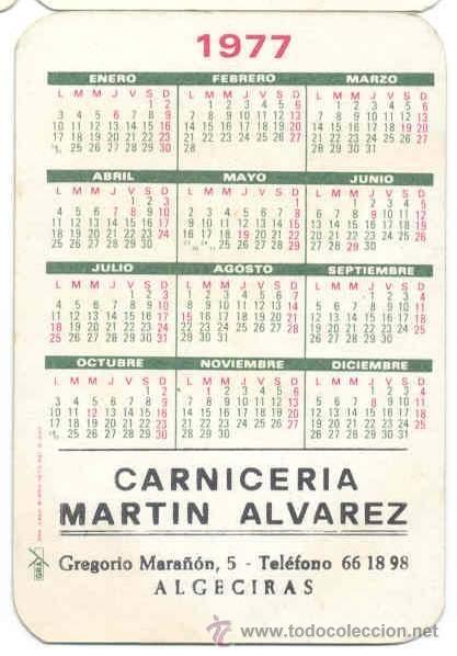 Calendario Serie B 18 19.Calendario De Bolsillo 1977 Otono Rio Carnic Sold