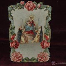 Coleccionismo Calendarios: CALENDARIO DE PARED TROQUELADO Y EN RELIEVE. PRINCIPIOS DEL SIGLO XX. Lote 42278640