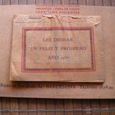 Coleccionismo Calendarios: CALENDARIO 1957 EMPRESA DE AMIANTOS, FIBRA DE VIDRIO BARCELONA Y FABRICA SARDAÑOLA CERDANYOLA. Lote 42297268