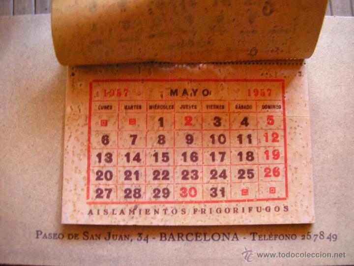 Coleccionismo Calendarios: CALENDARIO 1957 EMPRESA DE AMIANTOS, FIBRA DE VIDRIO BARCELONA Y FABRICA SARDAÑOLA CERDANYOLA - Foto 2 - 42297268