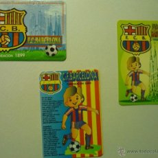 Coleccionismo Calendarios: LOTE CALENDARIOS FUTBOL F.C.BARCELONA 1999-1995-1996. Lote 42301258
