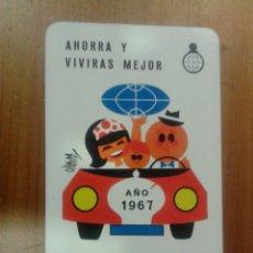 Coleccionismo Calendarios: CALENDARIO FOURNIER 1967 CAJA AHORROS DIPUTACION BARCELONA. Lote 42326326