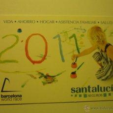 Coleccionismo Calendarios: CALENDARIO SEGUROS SANTALUCIA 2011. Lote 42397338