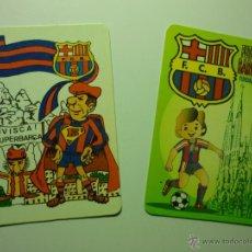 Coleccionismo Calendarios: LOTE CALENDARIOS FUTBOL BARCELONA 1987-1996. Lote 42410563