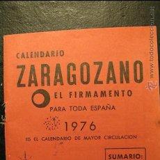 Coleccionismo Calendarios: CALENDARIO ZARAGOZANO, EL FIRMAMENTO, 1976. Lote 42563415
