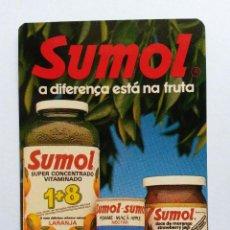 Coleccionismo Calendarios: CALENDARIO PORTUGAL 1987 SUMOL. Lote 42631315