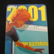 Coleccionismo Calendarios: CALENDARIO BOLSILLO BANCO CAJA KUTXA 2001. Lote 45648604