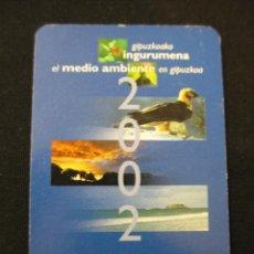 Coleccionismo Calendarios: CALENDARIO BOLSILLO BANCO CAJA KUTXA 2002. Lote 42637107