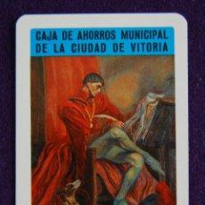 Coleccionismo Calendarios: CALENDARIO FOURNIER. CAJA DE AHORROS MUNICIPAL DE LA CIUDAD DE VITORIA. CANCILLER AYALA. 1974. Lote 194591236