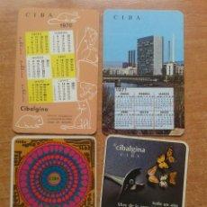 Coleccionismo Calendarios: CALENDARIOS CIBA AÑOS 1969/70---70/71--72/73--74/75. Lote 42829886