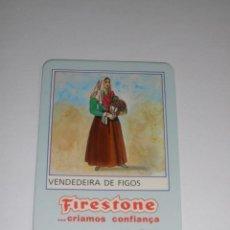 Collectionnisme Calendriers: CALENDARIO EXTRANJERO 1987 - FIRESTONE. VENDEDEIRA DE FIGOS. NEUMATICOS. COCHES. Lote 42851083