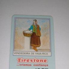 Collectionnisme Calendriers: CALENDARIO EXTRANJERO 1987 - FIRESTONE. VENDEDEIRA DE FAVA-RICA. NEUMATICOS. COCHES. Lote 42851130