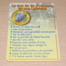 Coleccionismo Calendarios: CALENDARIO LO QUE DA DE SÍ 1 EURO EN UNA CAFETERÍA DE 2003. Lote 42865433
