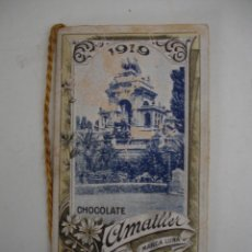 Coleccionismo Calendarios: CALENDARIO DE 1919 DE CHOCOLATES AMATLLER ( MARCA LUNA ) DE BARCELONA . Lote 43169323