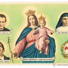 Coleccionismo Calendarios: RARA TARJETA POSTAL SALESIANA FOURNIER VITORIA MARIA AUXILIADORA ANTIGUA. Lote 43223892
