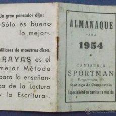 Coleccionismo Calendarios: ALMANAQUE PARA 1954. 9,2 X 6 CM. Lote 43285666