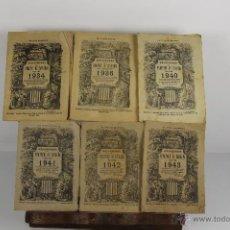 Coleccionismo Calendarios: 4647- CALENDARIO DEL PRINCIPADO DE CATALUÑA. IMP. ELZEVIRIANA. COLECCION DE 15 CALENDARIOS.. Lote 43473006