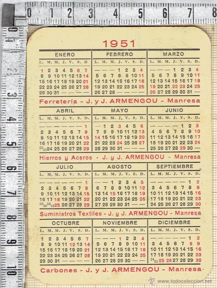 Calendario 1951.Calendario 1951 Publicidad Jaime Y Jose Armengo Sold