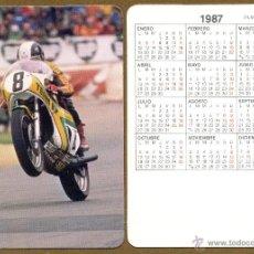 Coleccionismo Calendarios: CALENDARIOS BOLSILLO - MOTOS 1987. Lote 45313229