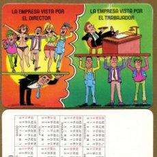Coleccionismo Calendarios: CALENDARIOS BOLSILLO - HUMOR 1990. Lote 45313242