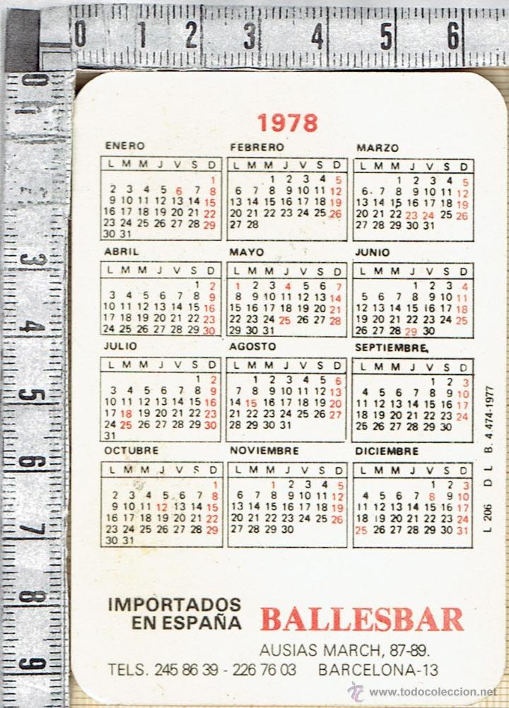 1978 Calendario.Calendario 1978 Publicidad Amortiguadores Bilstein Importador En Espana Ballesbar
