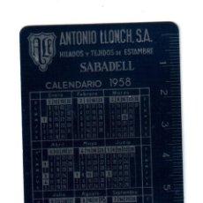 Coleccionismo Calendarios: CALENDARIO DE ALUMINIO 1958, . Lote 43660385