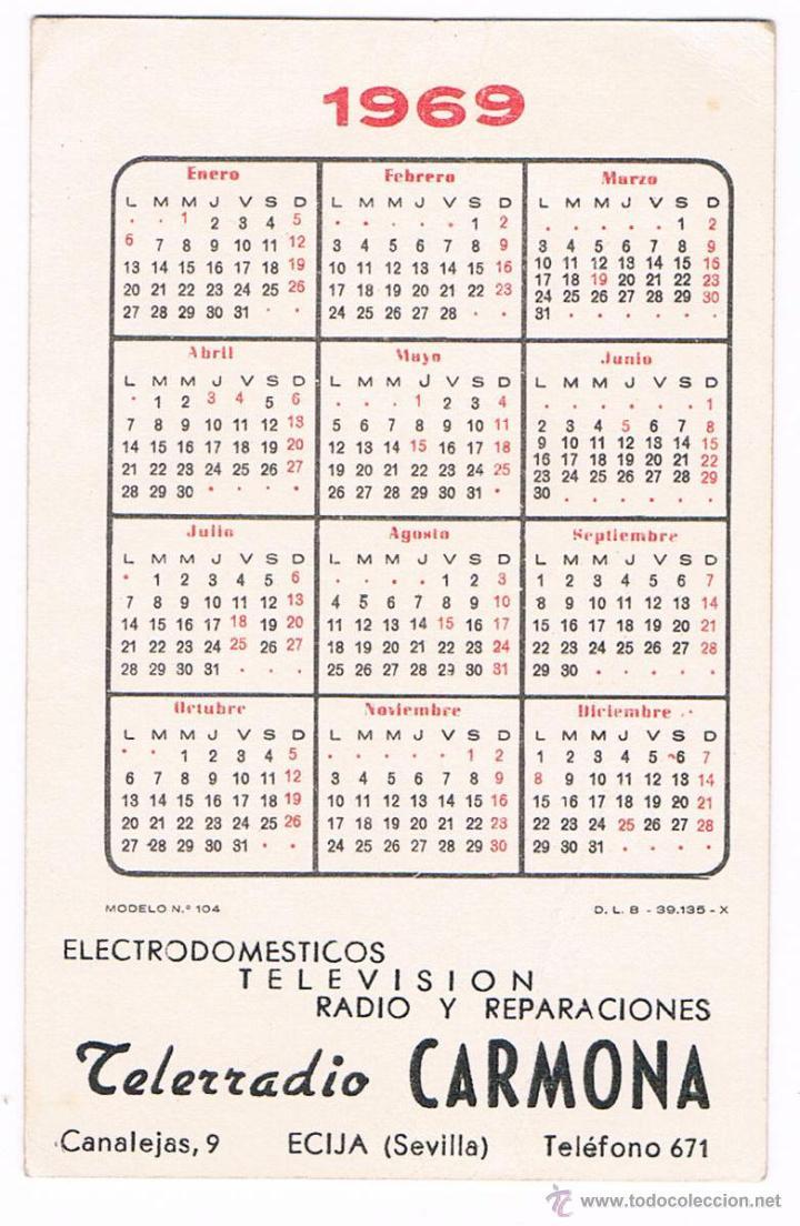 Calendario Del Ano 1969.Calendario Antiguo Ano 1969 Motivos Flamencos Casa Comercial Raro