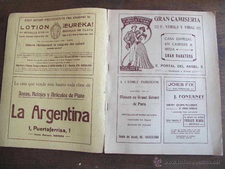 Coleccionismo Calendarios: Calendario catalán PAPITU de 1912 - Foto 2 - 43930955